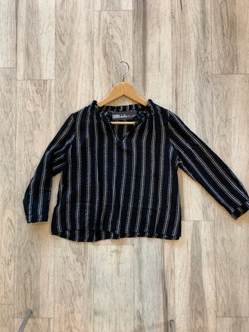 Black/Silver Stripe Blouse
