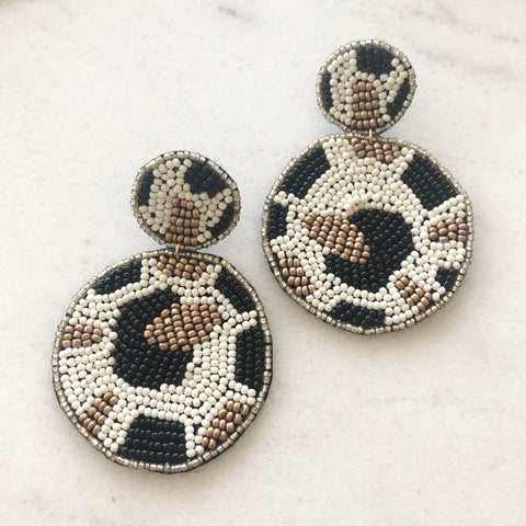 Leopard Bead Earrings