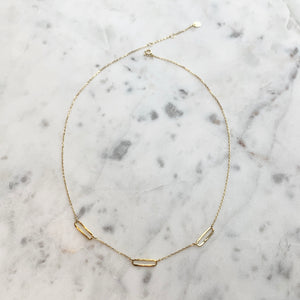 Triple Link Necklace