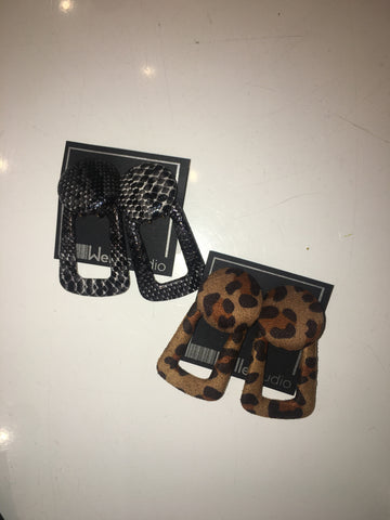 Animal Print Door Knocker Earrings