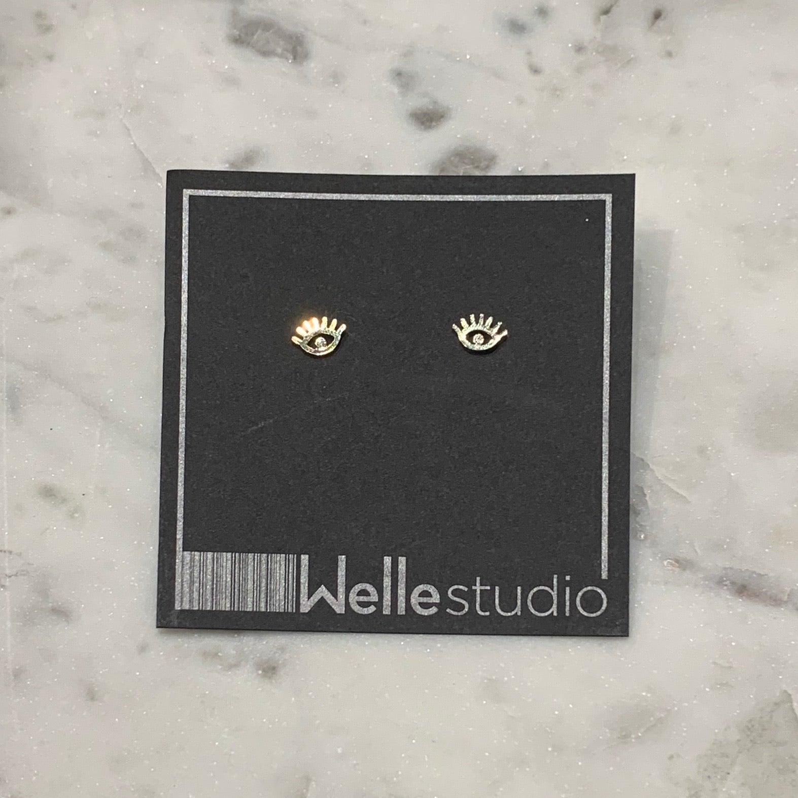 Eyelashes Stud Earrings