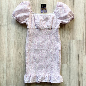 Mini Dress with Flare Ruffle Hem
