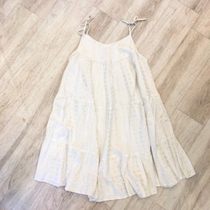 Metallic Gauze Sundress - Cream