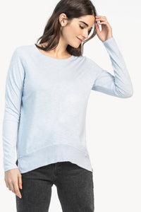 Long Sleeve Rib Bottom Top