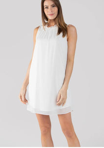 Ruffle Tank Shift Dress