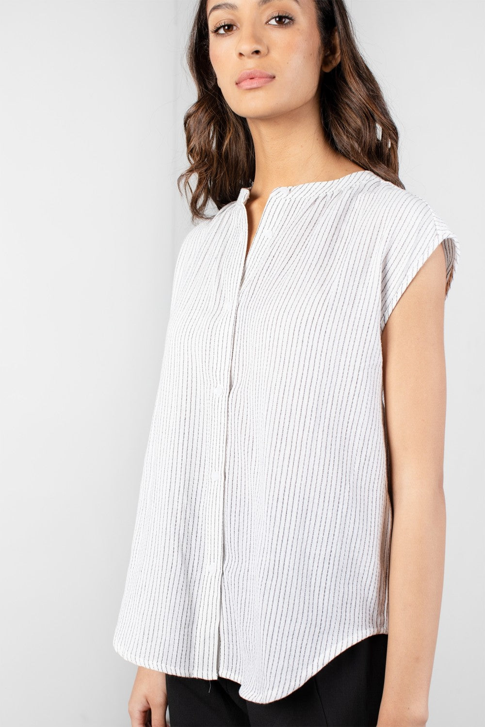 Small Stripe Button Down