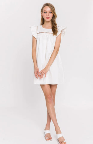 Trim Detail Babydoll Dress
