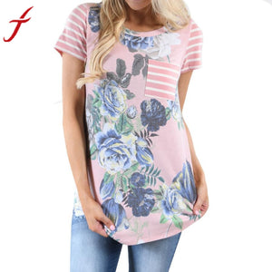 Floral Casual Tee - Rodeo.Driving