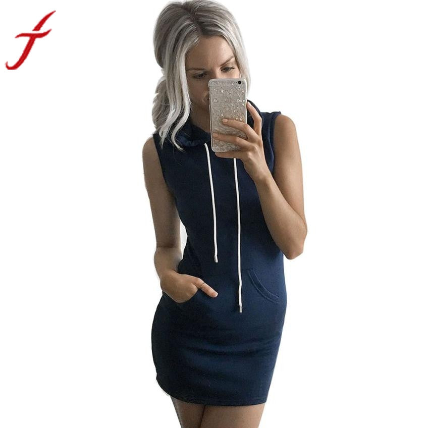Round Neck, Sleeveless Hoodie/Dress - Rodeo.Driving