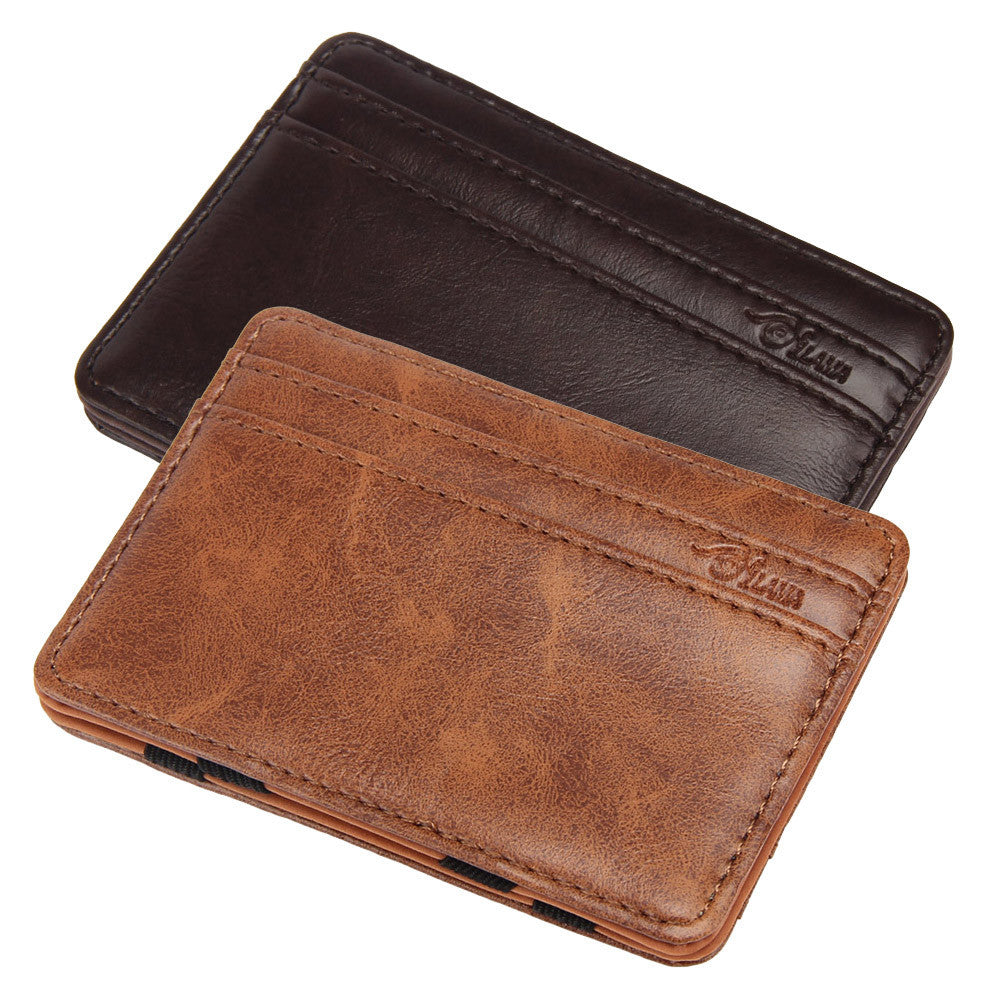 Luxury, Leather Mini-Wallet, Card Holder - Rodeo.Driving
