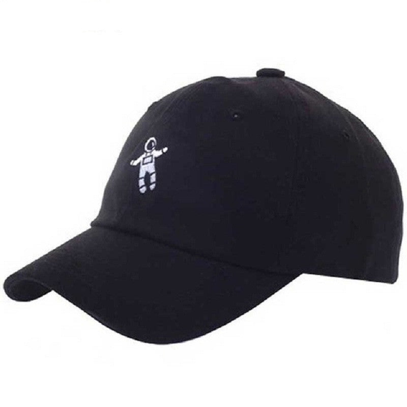 Astronaut Baseball Cap, Black Cotton - Rodeo.Driving