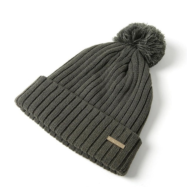 Warm Woolen Hat With Ball Tip - Rodeo.Driving