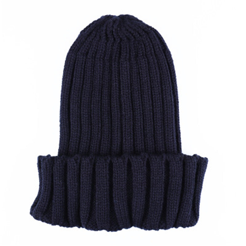Winter Hat For Men Women Knitted Beanies Cap Casual Autumn Boys Woolen Knit Hats Girls Solid Color Skullies Beanies Unisex Caps - Rodeo.Driving