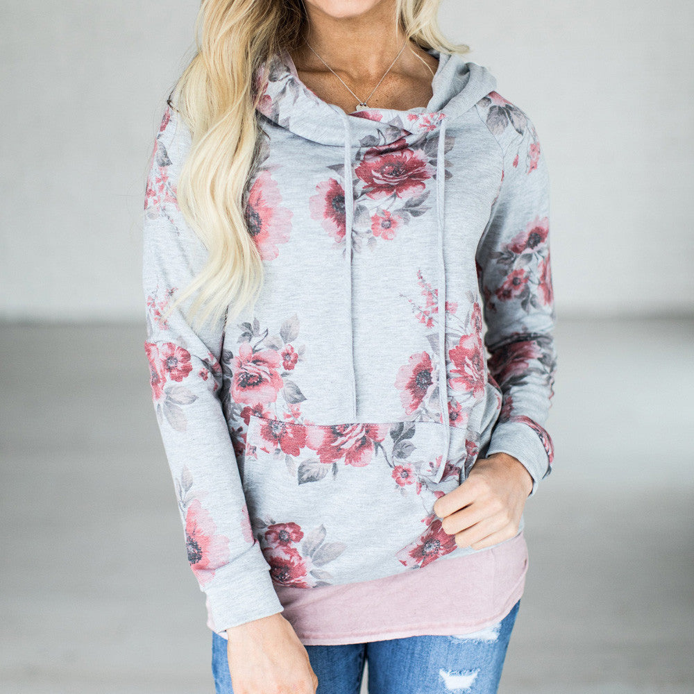 Floral Hoodie Pullover - Rodeo.Driving