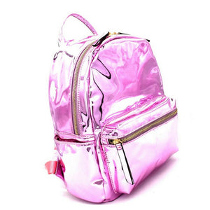 Shiny Pink Patent Leather Backpack - Rodeo.Driving