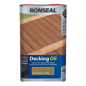 Ronseal Decking Oil 5L Natural Pine