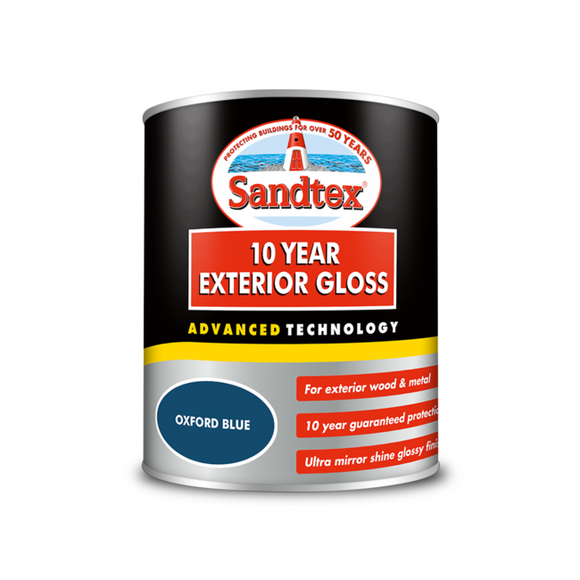 Sandtex 10 Year Gloss Oxford Blue 750ml