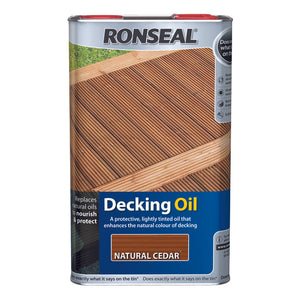 Ronseal Decking Oil 5L Natural Cedar