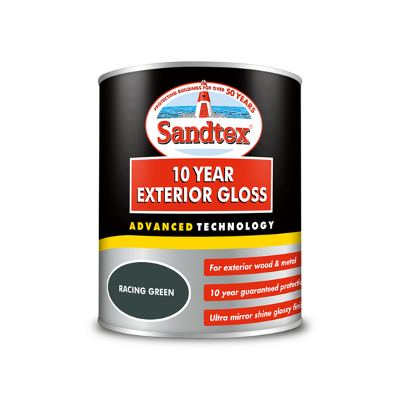Sandtex 10 Year Gloss Green 750ml