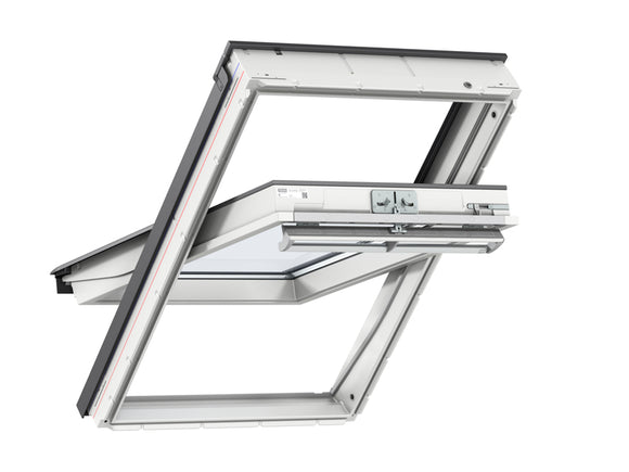 Velux White PU Centre Pivot Roof Window - 55X98CM