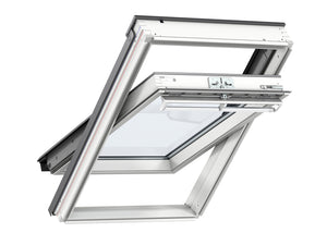 Velux White Painted Centre Pivot Roof Window - 66X118CM