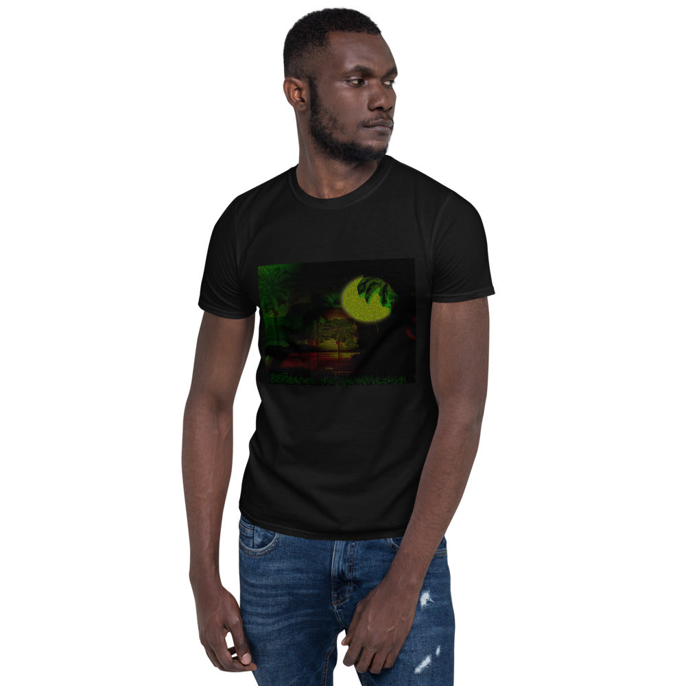 Short-Sleeve Unisex T-Shirt (palm Tree Landscape) - Gloray's Graphics & Designed Wear