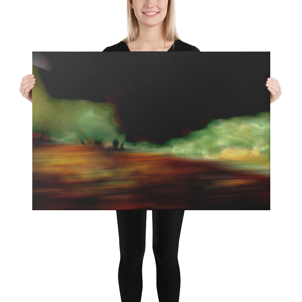 Black Gold Landscape On Canvas - Gloray's Graphics & Designed Wear