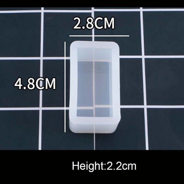 1PC Cube Cuboid Pendant DIY Necklace Jewelry Mold Pendants Crystal Scale Jewelry Resin Molds for Jewelry Making Tool - Gloray's Graphics & Designed Wear