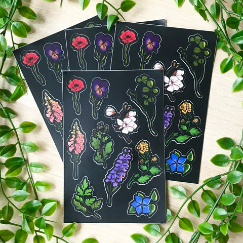 Witch plants sticker sheet