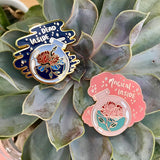 Dead inside + magical inside pin set