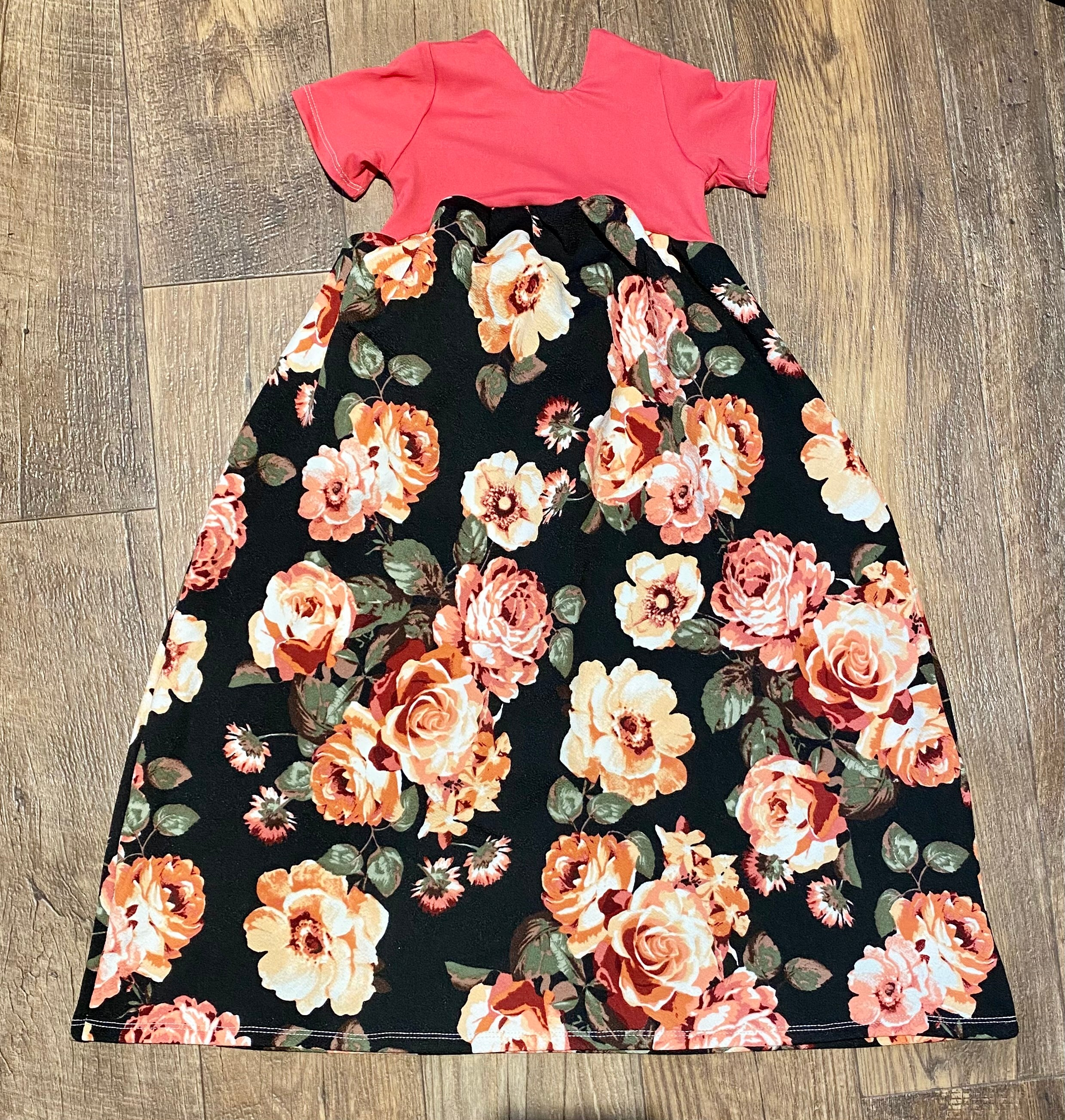 Midnight Rare Roses Low Back Maxi Dress