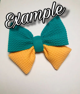 Loopty Loop Bows---- LEAVE A NOTE FOR COLORS. Colors available in description.