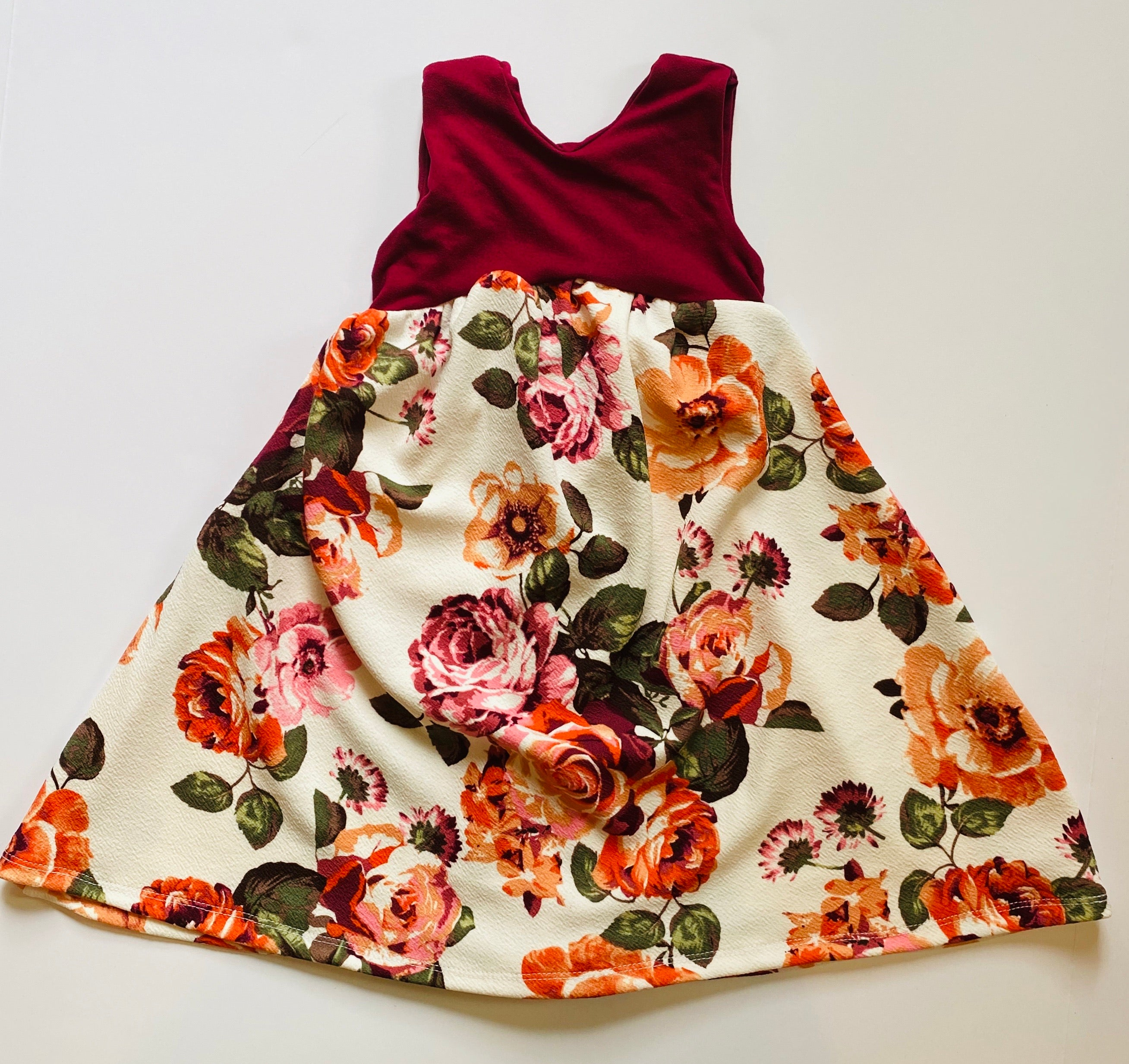 Rare Roses Low Back Swing Dress