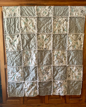 "New blue and gray Child's Quilt 45""x55"""