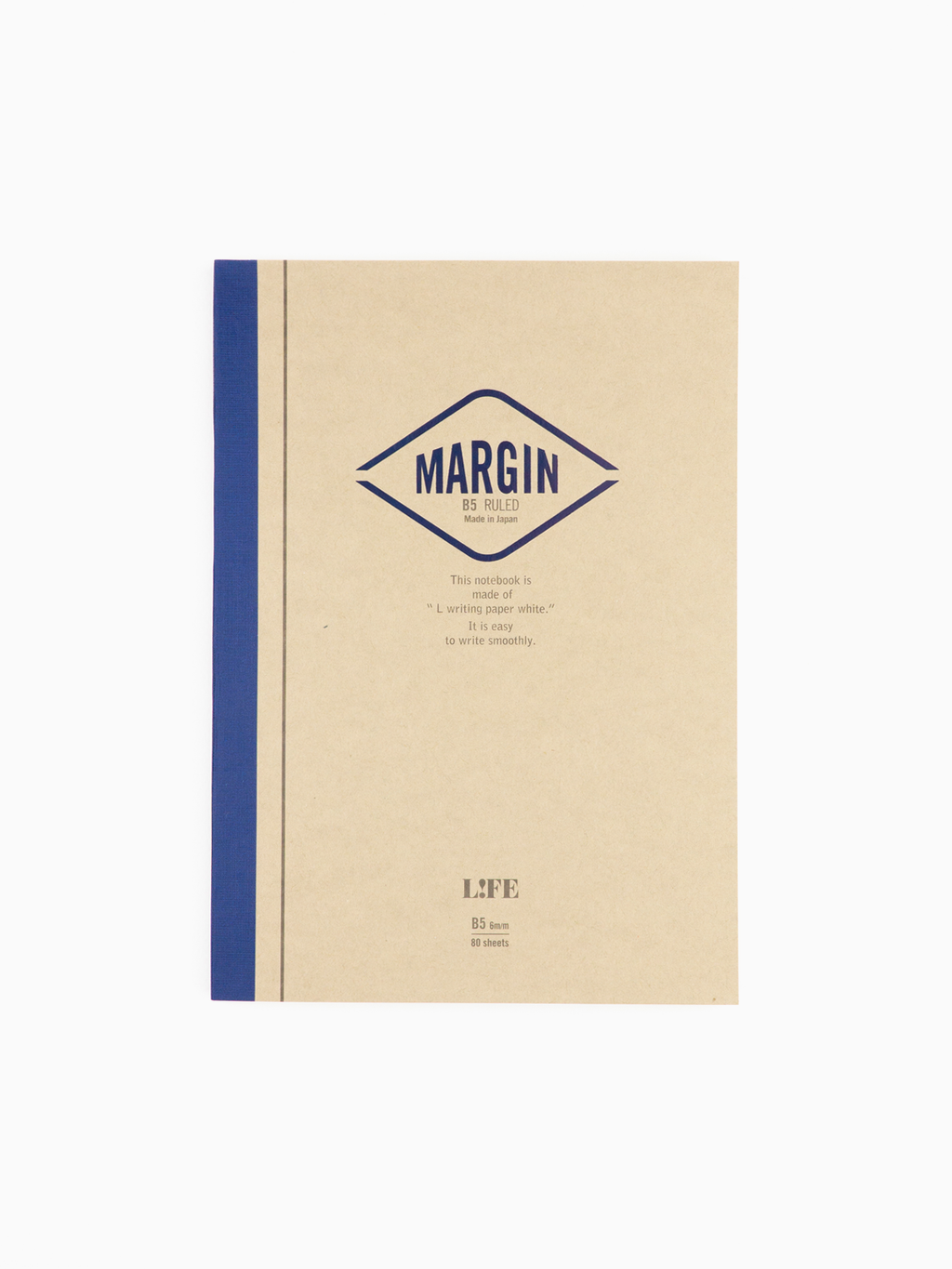 L!FE Margin B5 Notebook (Ruled)