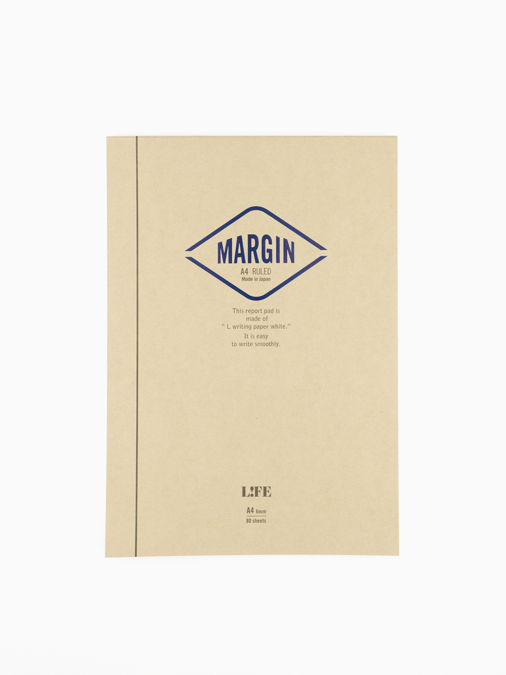 L!FE Margin Report A4 Notepad (Ruled)