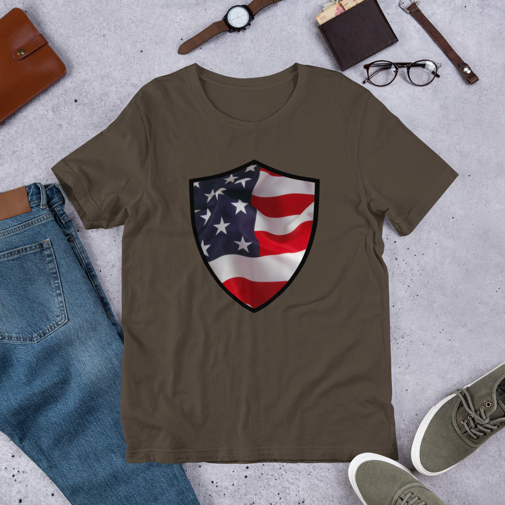 Flag Shield Short-Sleeve Unisex T-Shirt