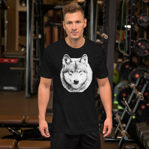 Short-Sleeve Unisex T-Shirt - Bold Wolf Design