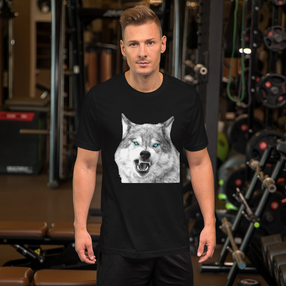 Short-Sleeve Unisex T-Shirt Snarling Wolf