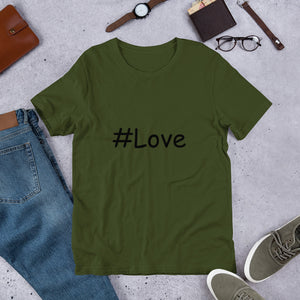 #Love Short-Sleeve Unisex T-Shirt