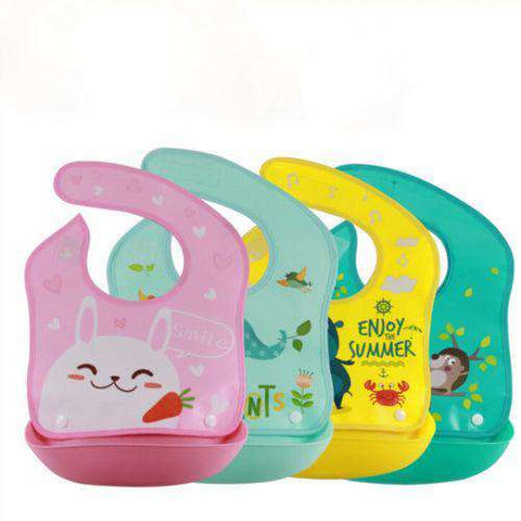 DCH™ Washable Soft Silicone Baby Bibs