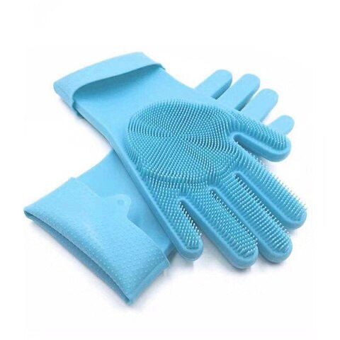 Dishwashing Gloves with Attachable Scrub