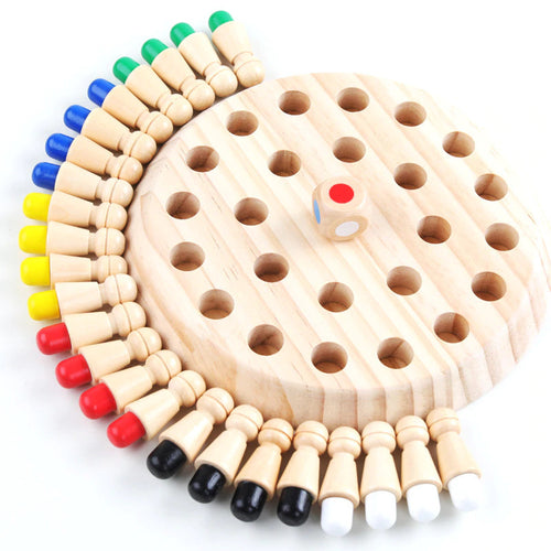 Wooden Color Match Memory Game