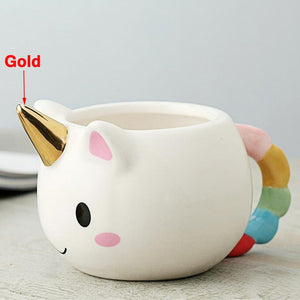 Handmade 3D Cartoon Unicorn Mug