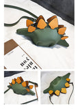 Dinosaur Purse-Stegosaur Crossbody Messenger Bag