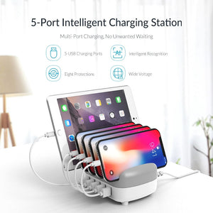 5 USB Ports Smart Device Charging Station