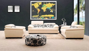 Home Decoration World Scratch Map (82.5 x 59.4 cm)