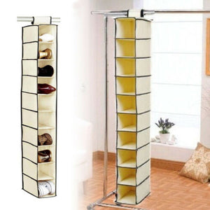 10 Shelves Wardrobe Organizer