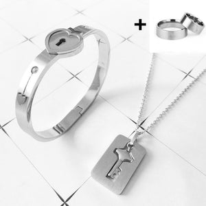 Lovers Jewelry Key Pendant and Bracelet