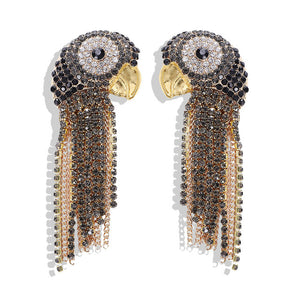 Adorable Exotic Parrot Crystal Earrings